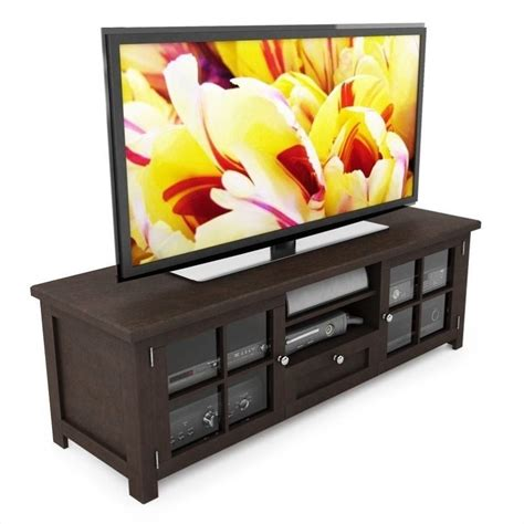 shaker cabinet kitchen entertainment center glass low profile 63 quot tv stand in 2167