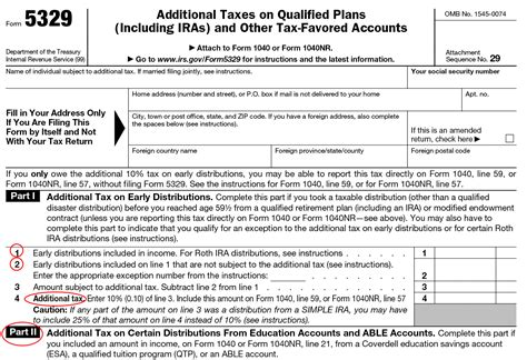 form 5329 exception information for irs