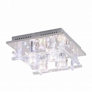 Leuchten Direkt Led Panel : led deckenleuchte kemal metall glas silber leuchten direkt b jetzt kaufen ~ Indierocktalk.com Haus und Dekorationen