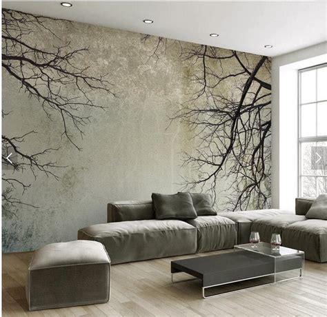 Custom Vintage Wallpaper Minimalist Tree Branches