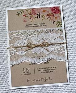 boho wedding invitation floral wedding invitation rustic With boho wedding invitations with lace
