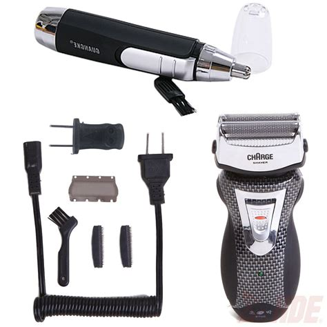rechargeable cordless electric razor shaver ear nose hair trimmer