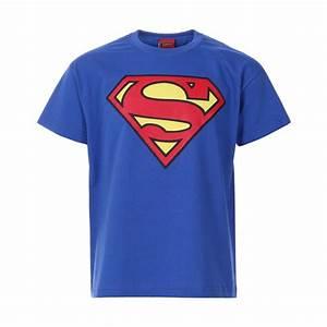 Boys Royal Blue Superman Logo Print Short Sleeve T-Shirt