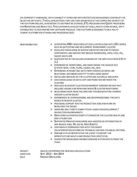 Hadoop Admin Resume by Resume Triveni Bigdata Hadoop Professional