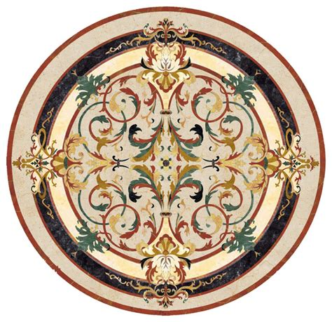 marble medallion waterjet marble medallion lucerne traditional wall and floor tile by czar floors