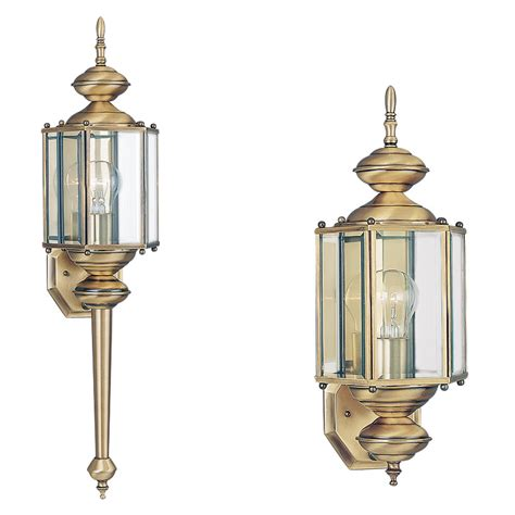 8510 01 one light outdoor wall lantern antique brass
