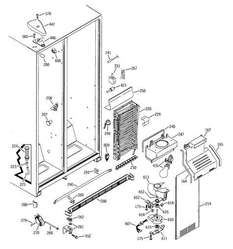 ge model gssjfmbww side  side refrigerator genuine parts