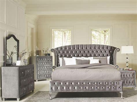 Bedroom Furniture Sets by Deanna Grey Velvet King Platform Bedroom Set 20510ke
