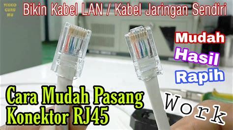 tutorial memasang rj kabel lan kabel utp  benar