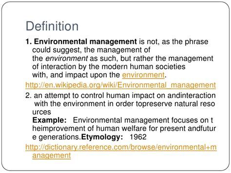 environmental management module 1