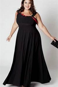 Plus size long black bridesmaid dresses naf dresses for Formal dress for wedding plus size