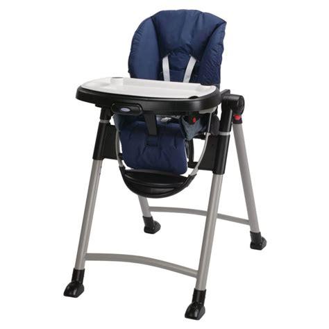 chaise haute graco graco 1918633 contempo baby chaise haute in bleu nuit ebay