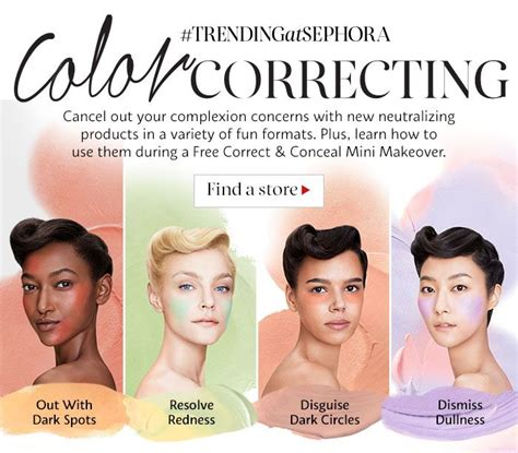 how to color correct makeup trending at sephora color correcting cancel out your