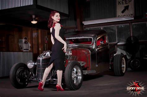 women car redhead high heels lucky devil women