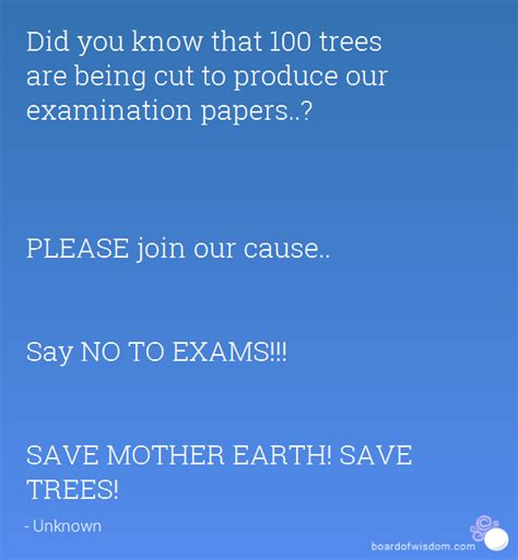 Did You Know That 100 Trees Are Being Cut To Produce Our