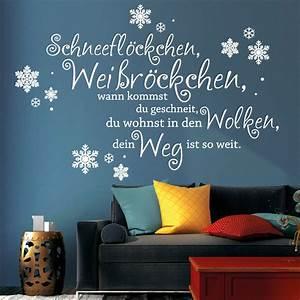 Sprüche Winter Schnee : schneefl ckchen wei r ckchen wandtattoo loft wandsticker ~ Watch28wear.com Haus und Dekorationen