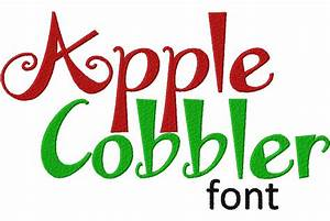free apple cobbler machine embroidery font set daily With embroidery lettering software free