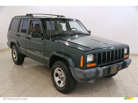 jeep cherokee green 2000 2000 forest green pearl jeep cherokee sport 4x4 83836343