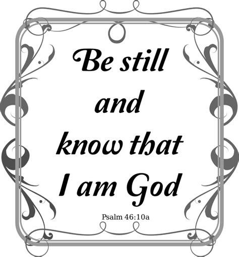 clipart psalms 46 10
