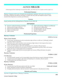 pharmacy technician cv exle for healthcare livecareer