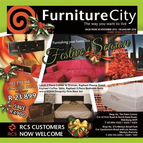 furniture city specials  dec   jan  find