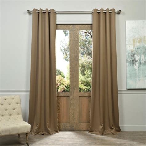 modern brown grommet blackout curtain traditional