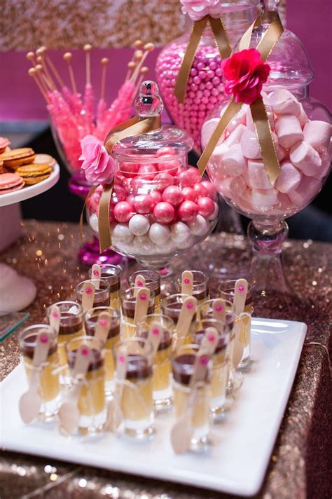 kara s party ideas glamorous pink gold 40th birthday