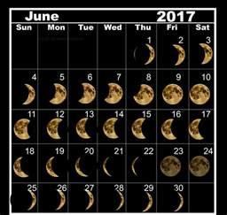 Moon Phase Calendar June 2017