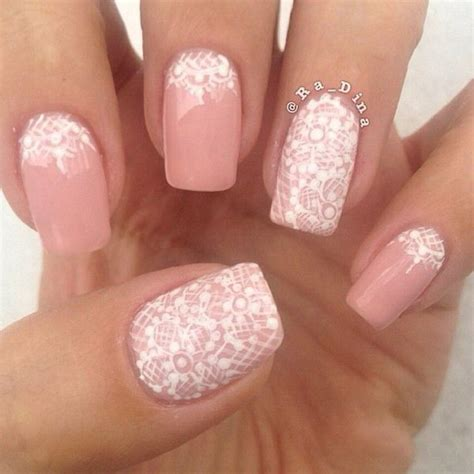 white nail designs 50 lovely pink and white nail designs