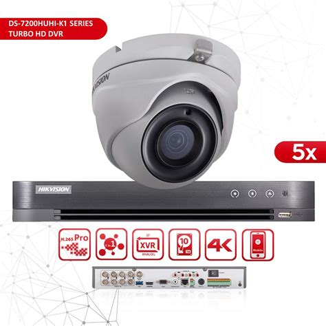 hikvision cctv system 8 channel ds 7208huhi k1 dvr 5mp