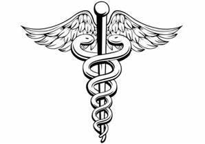 Serpiente en símbolo del doctor de poste Vector ...