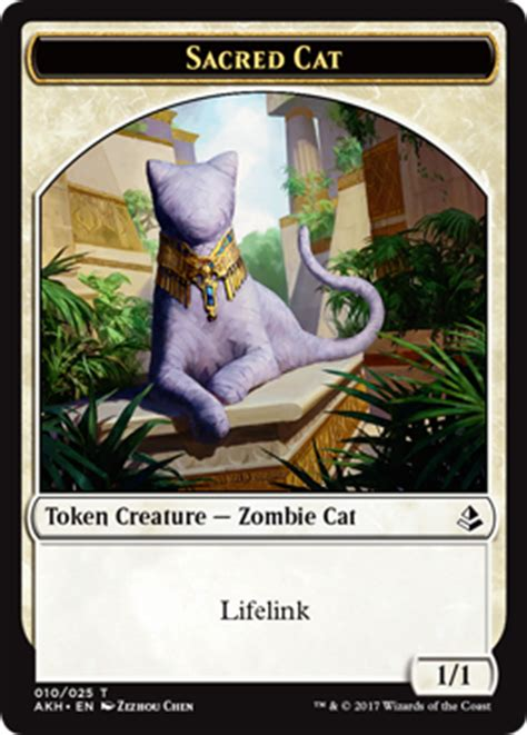 Cat Deck Mtg Amonkhet by The Tokens Of Amonkhet Magic The Gathering
