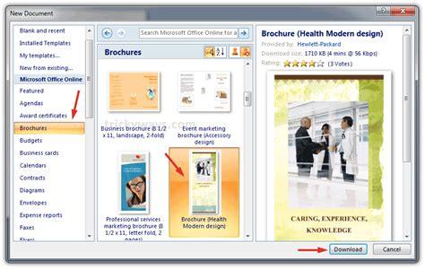 create brochure  word     brochure