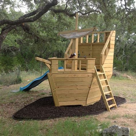 Backyard Pirate Ship Plans by Build Your Own Pirate Ship Playhouse How Cool Is This