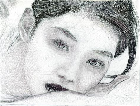Korean Actress Drawing By Reza Naqvi