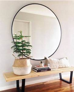 Large circle mirrors design decoration for Best brand of paint for kitchen cabinets with home made candle holders
