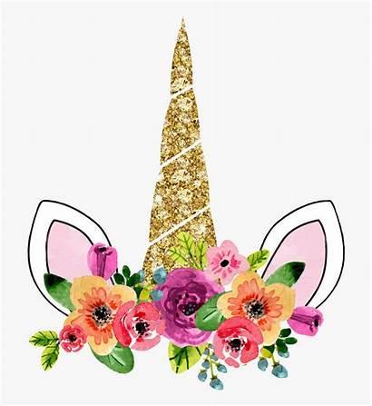 Unicorn Crown Floral Clipart Clip Transparent Cartoon