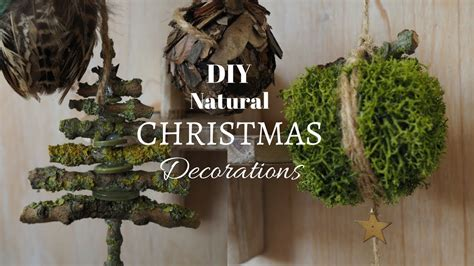 diy natural christmas decorations youtube