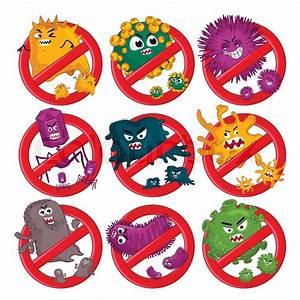 Cartoon Viruses Characters Isolated
