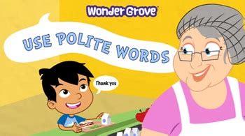 polite words grade   wondergrove kids teachers