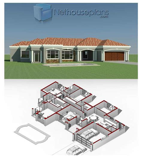 layout single storey modern house design  floor plan burnsocial