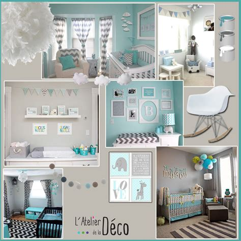 deco chambre bebe bleu gris chambre gris bleu bebe