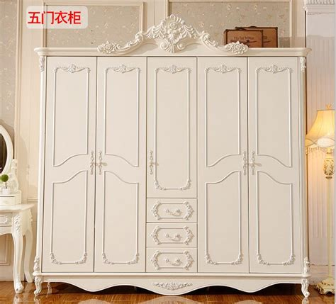 solid wood carved white wardrobe closet bedroom