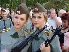 Russian Female Soldier...Russian Female Soldiers