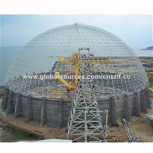 Prefab Dome Roof Space Frame Steel Structure, Power Plant ...