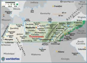 Tennessee Mountains Map
