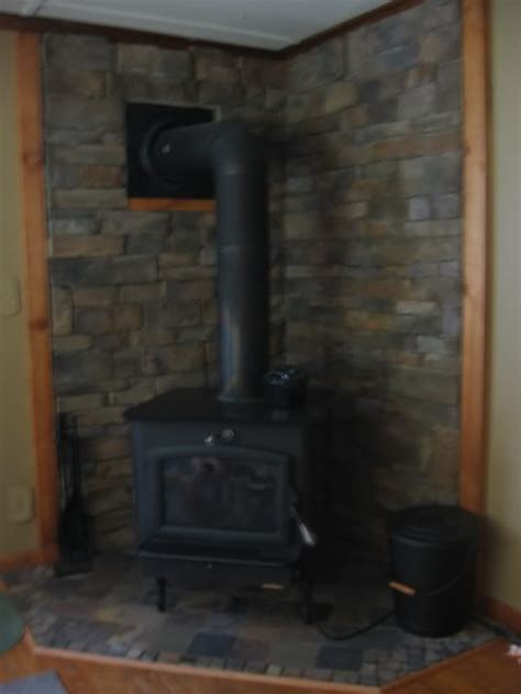 Stone Hearths for Wood Stoves     picture. I used slate
