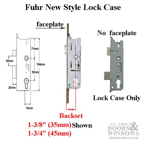 fuhr  style lock case  multipoint  single point