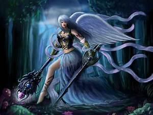 angels, , swords, , mage, , staff, , fantasy, , girls, , angel, , sword, , warrior, , armor, wallpapers, hd