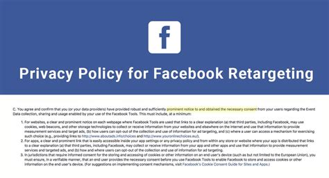 Privacy Policy For Facebook Retargeting Termsfeed